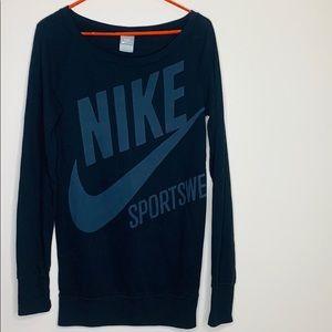 Nike Sportswear   Black Long Sleeve Sweater Dress